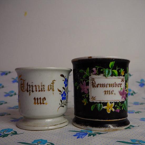 Set of Two Victorian Presentation Mugs
