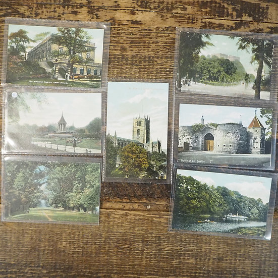 x7 Vintage Nottingham Tinted Photograph Postcards