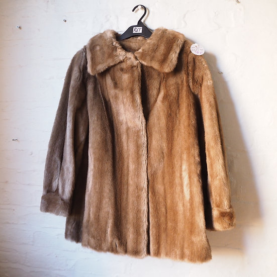 1970s Astraka Blonde Faux Fur Coat