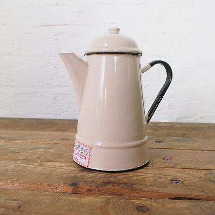 Vintage Cream Ceramic Coffee Pot