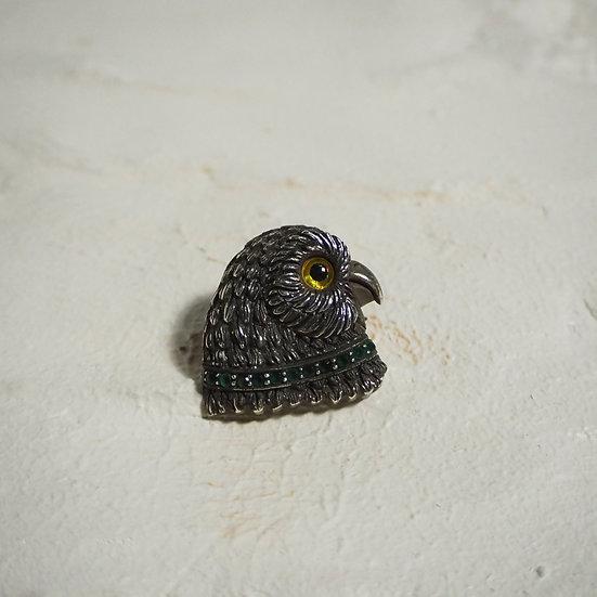 Sterling Silver Owl Eagle Bird Pendant / Brooch