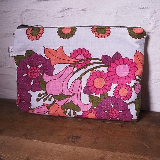 Vintage Floral Large Cosmetics Bag