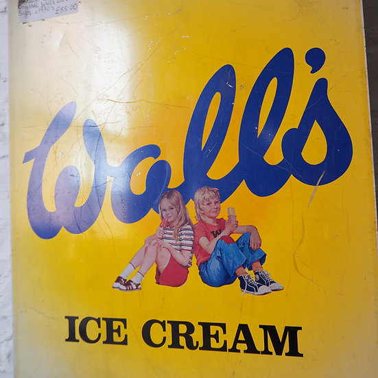 Original Tin Wall's Ice Cream Sign Cira 1970's