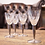Thumbnail: Set of 4 Crystal Sherry Glasses with Silver Metal Stem