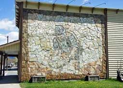 Stone Murals around town