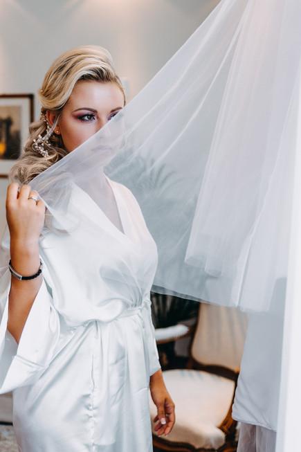 Getting Ready der Braut Portrait Hochzeitsshooting