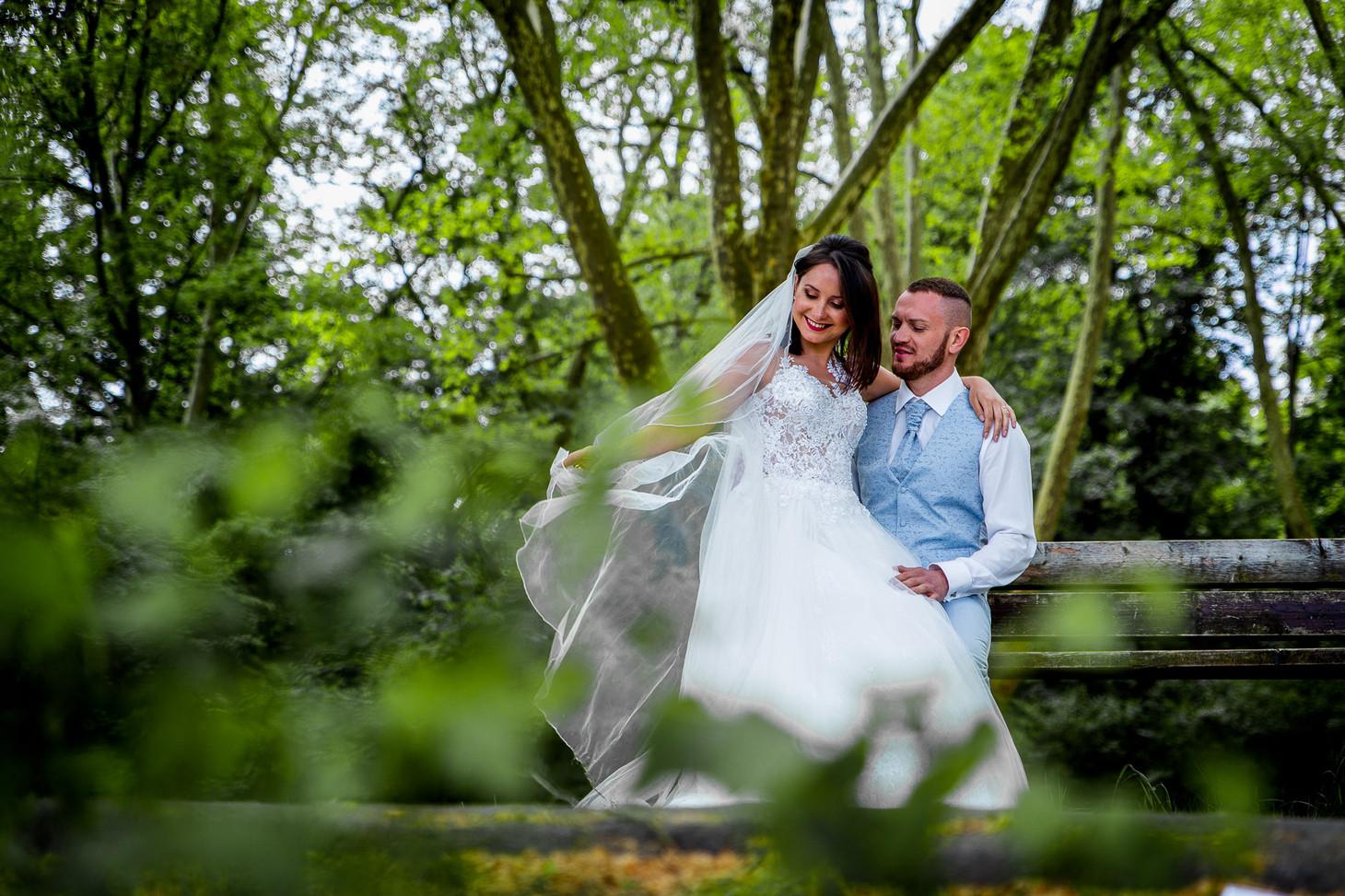 Das Brautpaar auf der Parkinsel - Stadtpark Ludwigshafen. Photo made by Willi Lasarenko Photography.