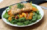 Paleo Honey Citrus Salmon with Sweet Pot