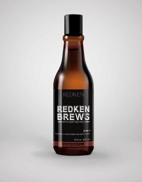 Redken Brews 3 in 1 Shampoo, Conditioner & Body Wash