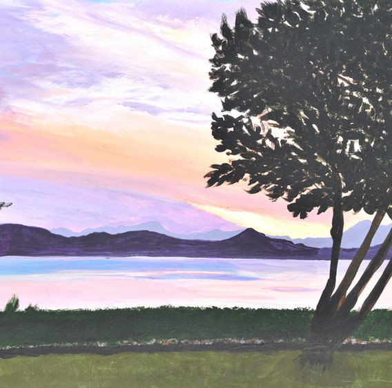 Acrylic_Crescent Beach sunset.jpg