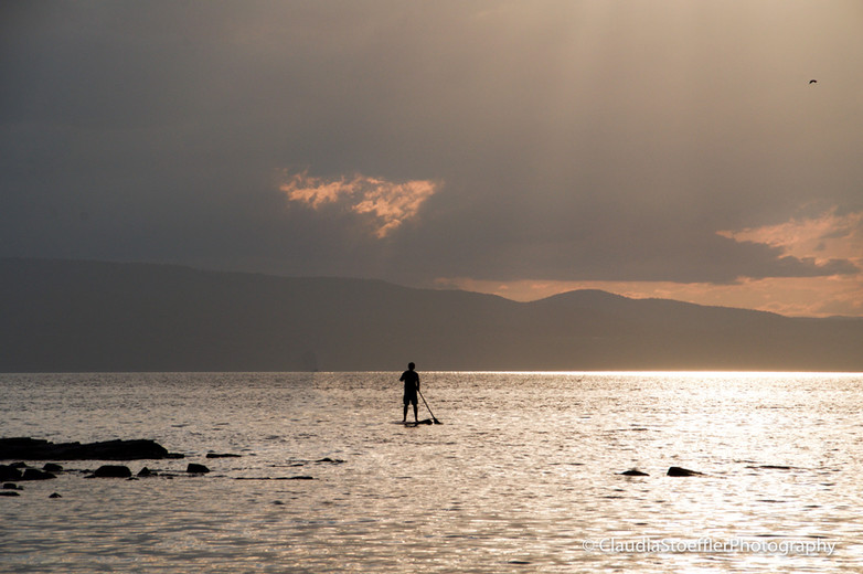 8- Lone Paddleboarder at Oakledge