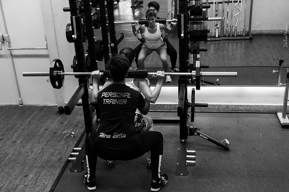 treino intenso, musculação