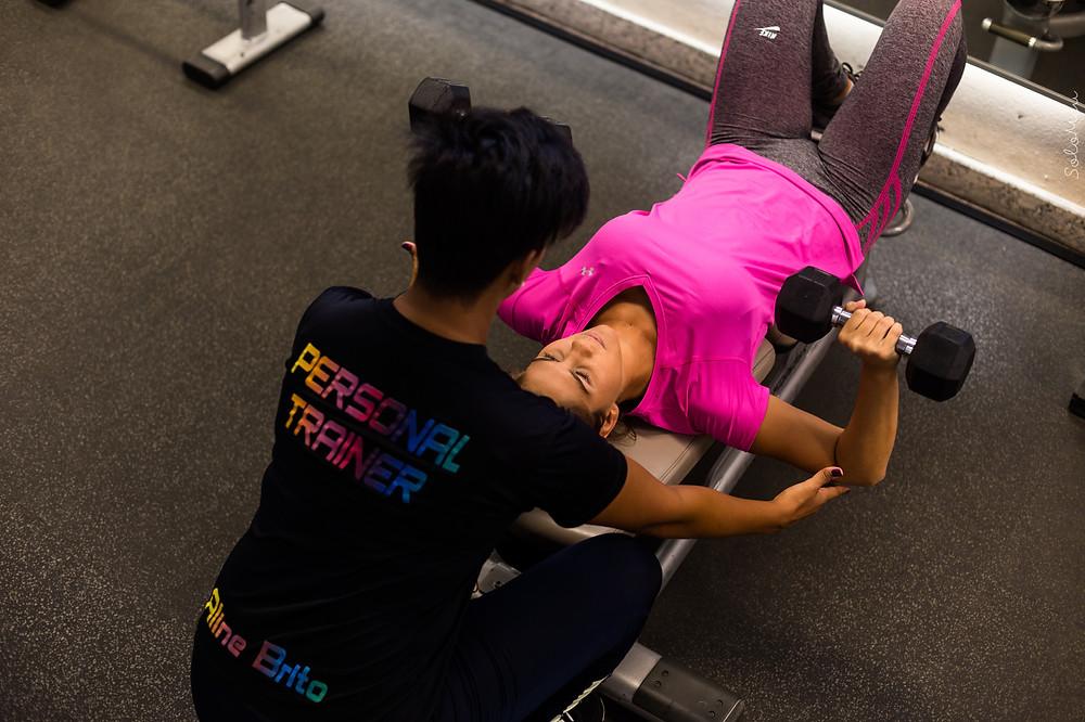 Personal Trainer, Supino, Musculação, BiSet, Treino, Fitness