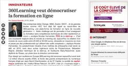 Parution les Echos.fr avec 360 learning