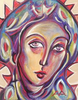 alex-alferov-alferovmedia-los-angeles-art-acrylic-painting-madonna-of-the-lilies