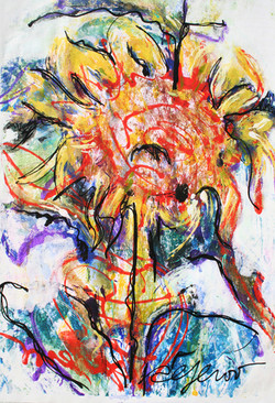 alferov-media-los-angeles-fountain-community-gardens-alex-aferov-painting-acrylic-on-paper-sunflower