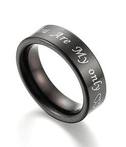 Tungsten ring engraving
