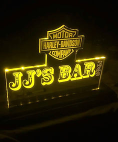 Back lit bar sign