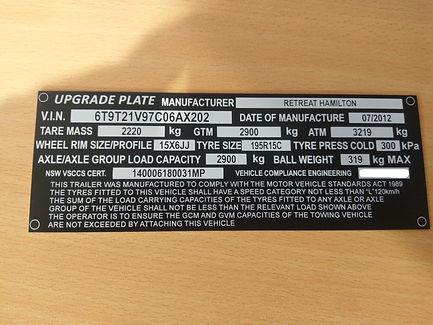 Aluminium compliance plate