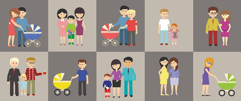 modelos de familias