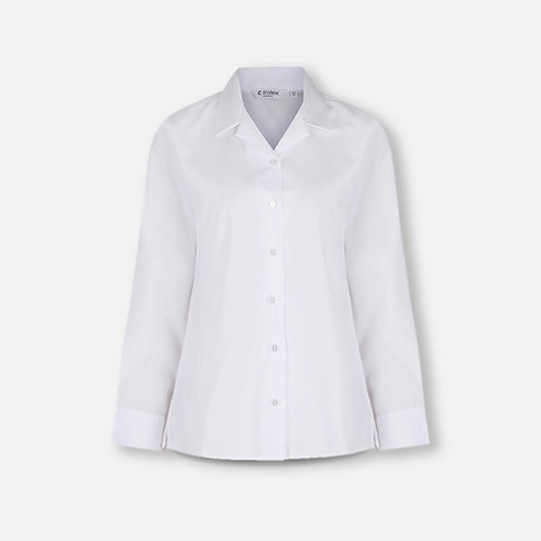 St Catherine's white blouse, long sleeve