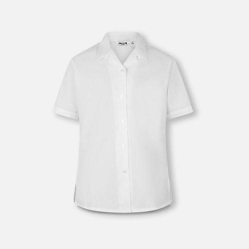 St Catherine's white blouse, short sleeve