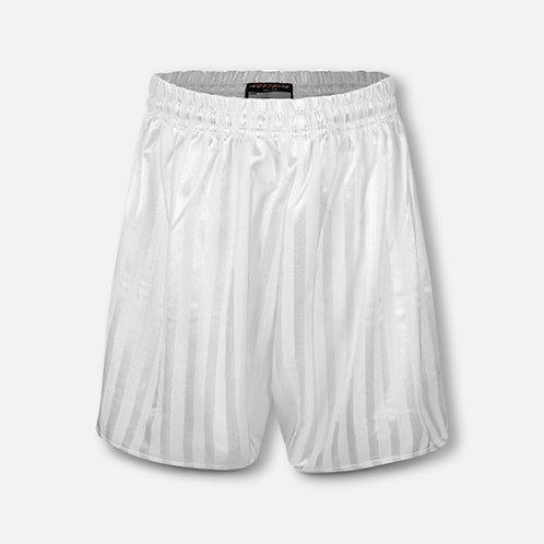 White shadow stripe P.E. shorts