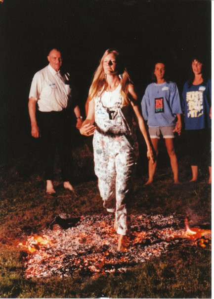 My mom Shan Lavell during her fire-walking phase.