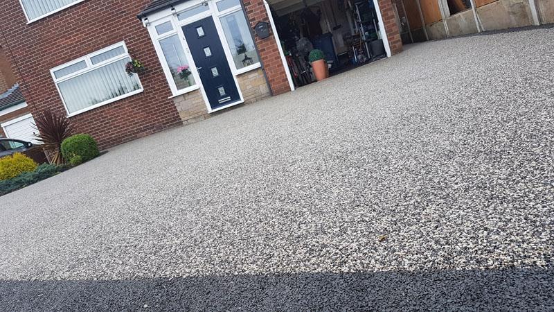 Black Pearl resin driveway