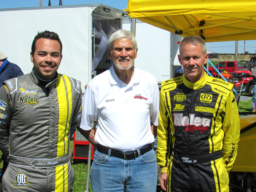 From left to right: Chris Windom, team owner Gene Nolen, Jerry Coons Jr.