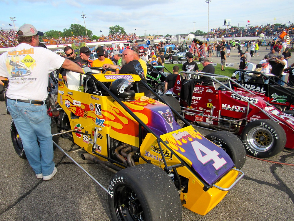 Kody Swanson's Nolen Racing #4 on the grid before the start of the Little 500.