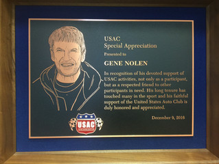 Nolen Racing Owner Receives Special Award from USAC