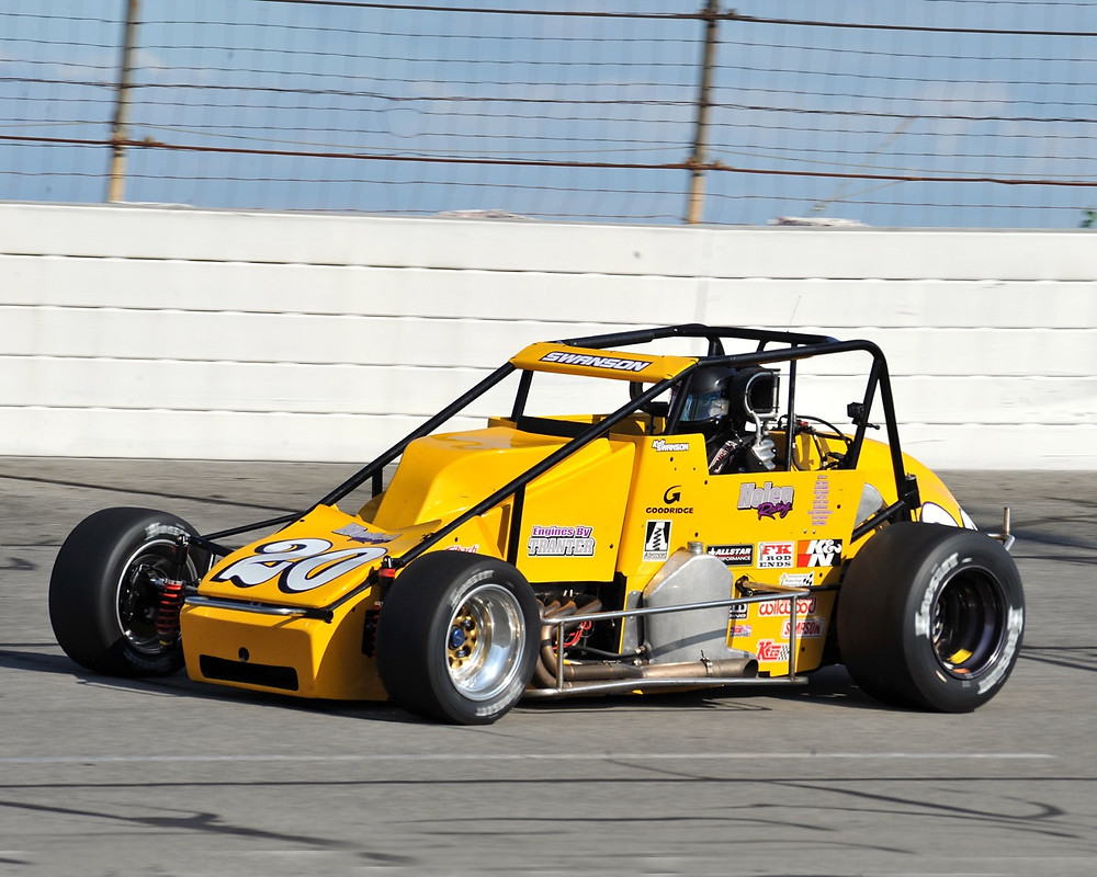 Kody Swanson at speed during the Rich Vogler Classic.