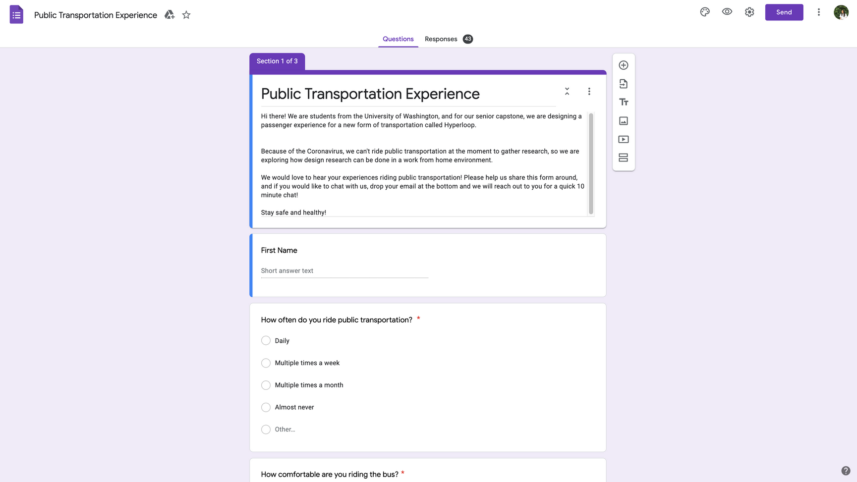 Google Forms Survey