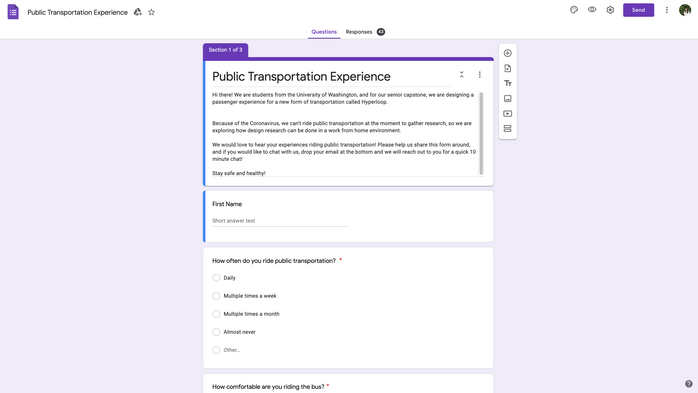 Google Forms Survey