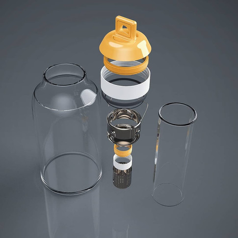 Water bottle - Exploded View
