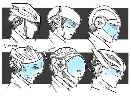 AR Bike Helmet Concept Sketches