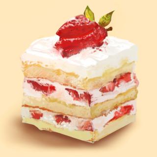Spongey Strawberry Cake