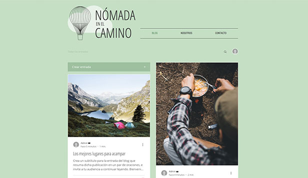 Blogs y Foros website templates – Blog de viajes
