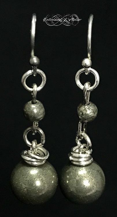 Boucles d'oreille Pyrite Spirit