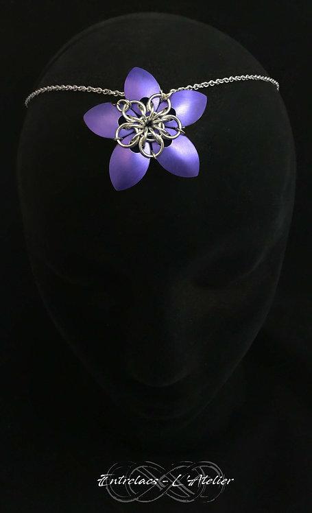 Bijou de tête Margot violet
