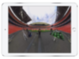 360 degree video of Emirates stadium shown on an IPad