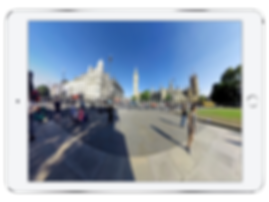 360 degree video of Buckingham Palace shown on an IPad