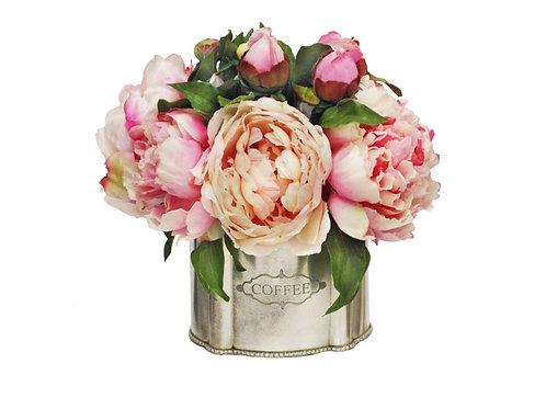 Peony Cafe Silk Floral Arrangement