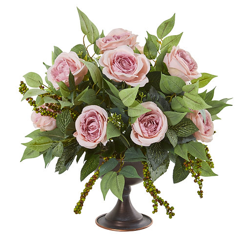 Romantique Roses Silk Floral Arrangement