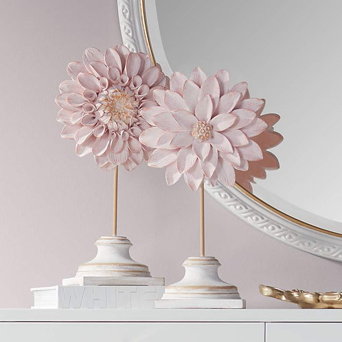 Shabby Chic Blossom Statue Set