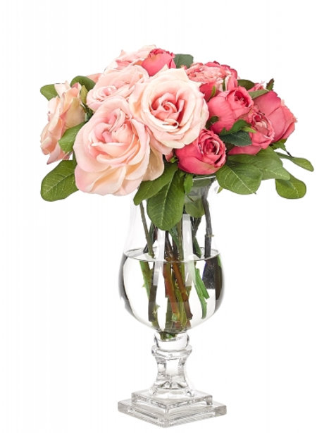 Chateau de Roses Silk Floral Arrangement