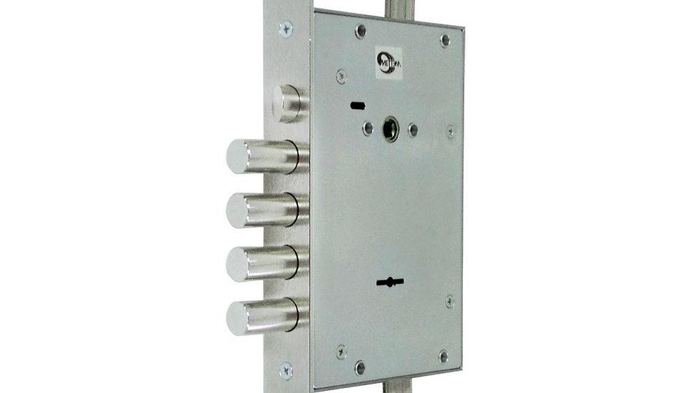 Замок с защёлкой повышенной безопасности для металлических дверей ЗВ9 343.1.1