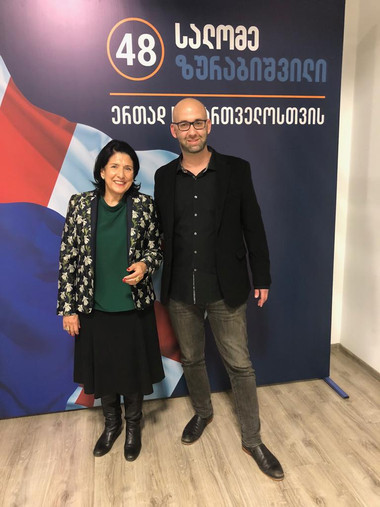 Moshe Klughaft won the presidential election in Georgia with Salome Zourabichvili