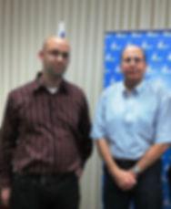 Moshe Klughaft and Defence minister Bogey Ya'alon משה קלוגהפט בוגי יעלון